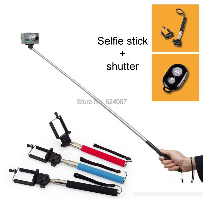 selfie stick with clamp bluetooth remote shutter self timer pau de selfie stick bluetooth palo. Black Bedroom Furniture Sets. Home Design Ideas