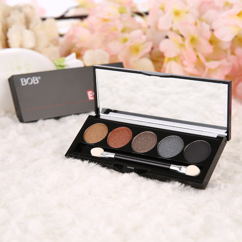 wholesale eye shadow makeup 5 colors eye shadow with brush and mirror professional makeup tools supplier(China (Mainland))