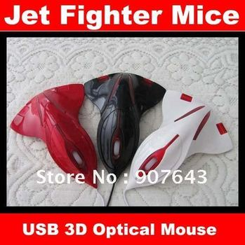 1pcs/lot Aircraft Jet Fighter 3D USB Optical Mouse Mice Laptop Freeshipping