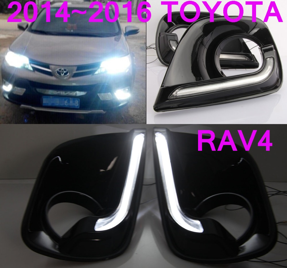 2014~2016 TOYOTA RAV4 ABS LED daytime running light,2pcs/set+wire of harness,10W 12V,6500K;super good quality Free ship!