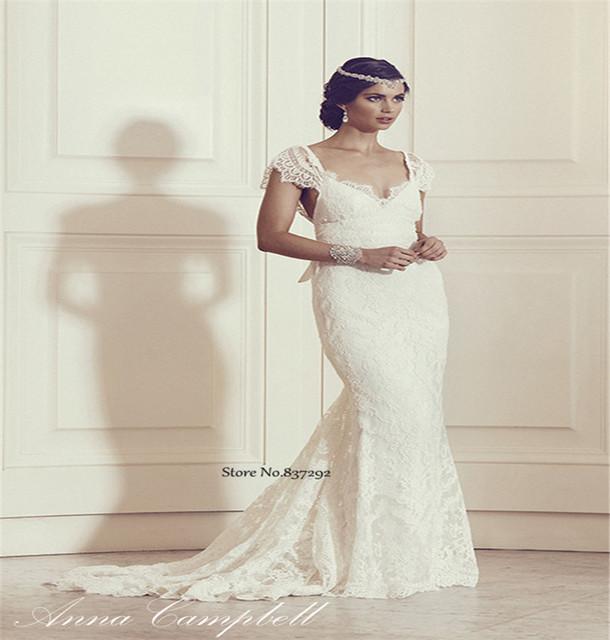 Vestidos de novia open back bow vintage wedding dresses for Open back bow wedding dress