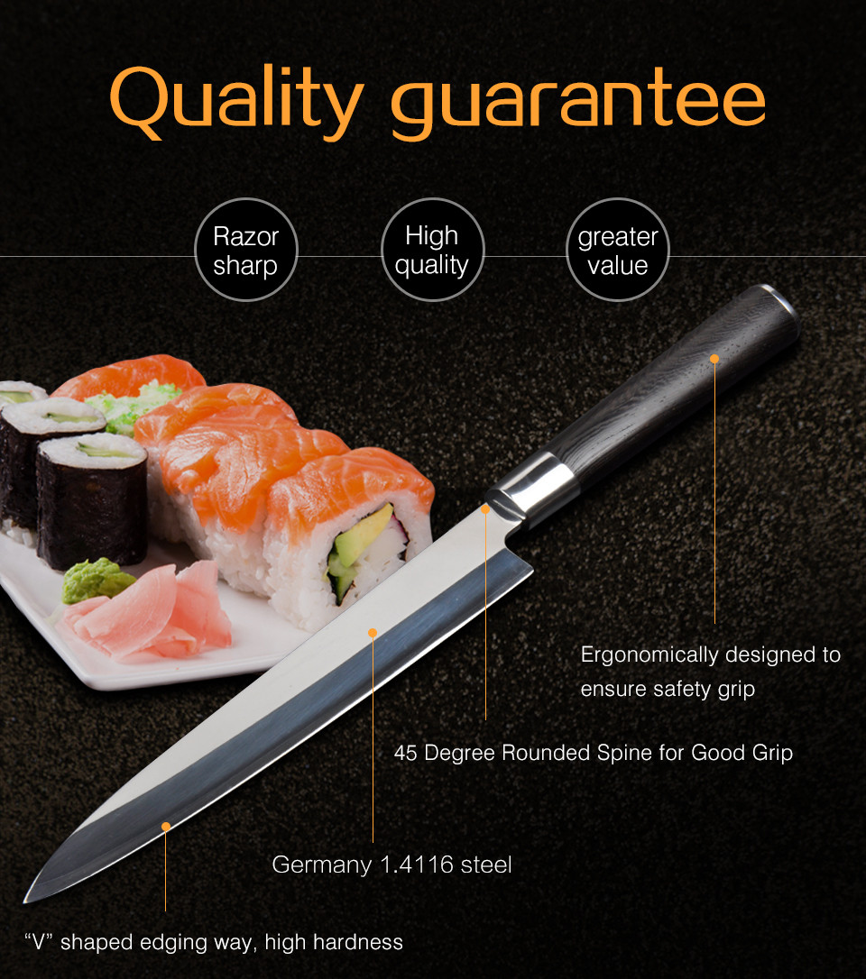 Buy 210MM Kitchen Chef Knife Japanese Sashimi Cook Fruit Home Fish Knife Kitchen FREE SHIPPING cheap