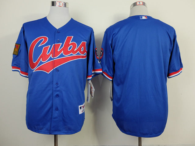 MLB Chicago Cubs Mens Jerseys Blank Blue Throwback Baseball Jersey Sewing Logos Size M-3XL Factory Price<br><br>Aliexpress