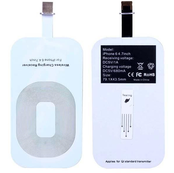 "2016 fashion high quality Qi Standard Wireless Charger Charging Receiver Card for Apple 4.7"" iPhone 6"