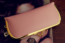 Free shipping new arrival fashion women long style wallet gold metal hasp buckle wallet PU leather