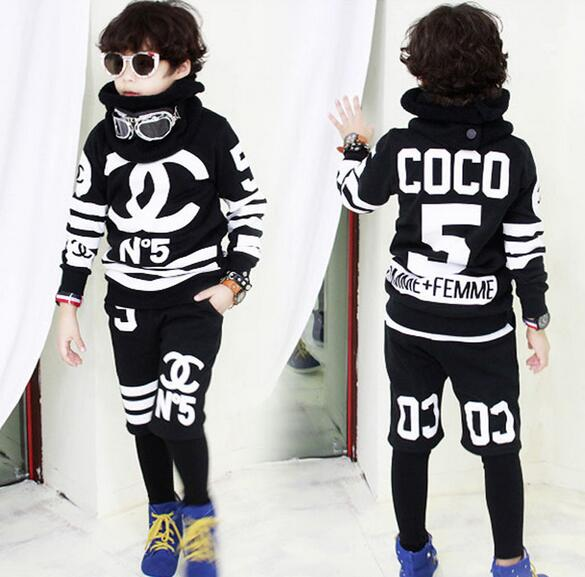 Boy Cosplay Costumes Hip Hop Street Style Cool Boy Clothes Outfits Sport Set Kids N 5 Suits Free Shipping