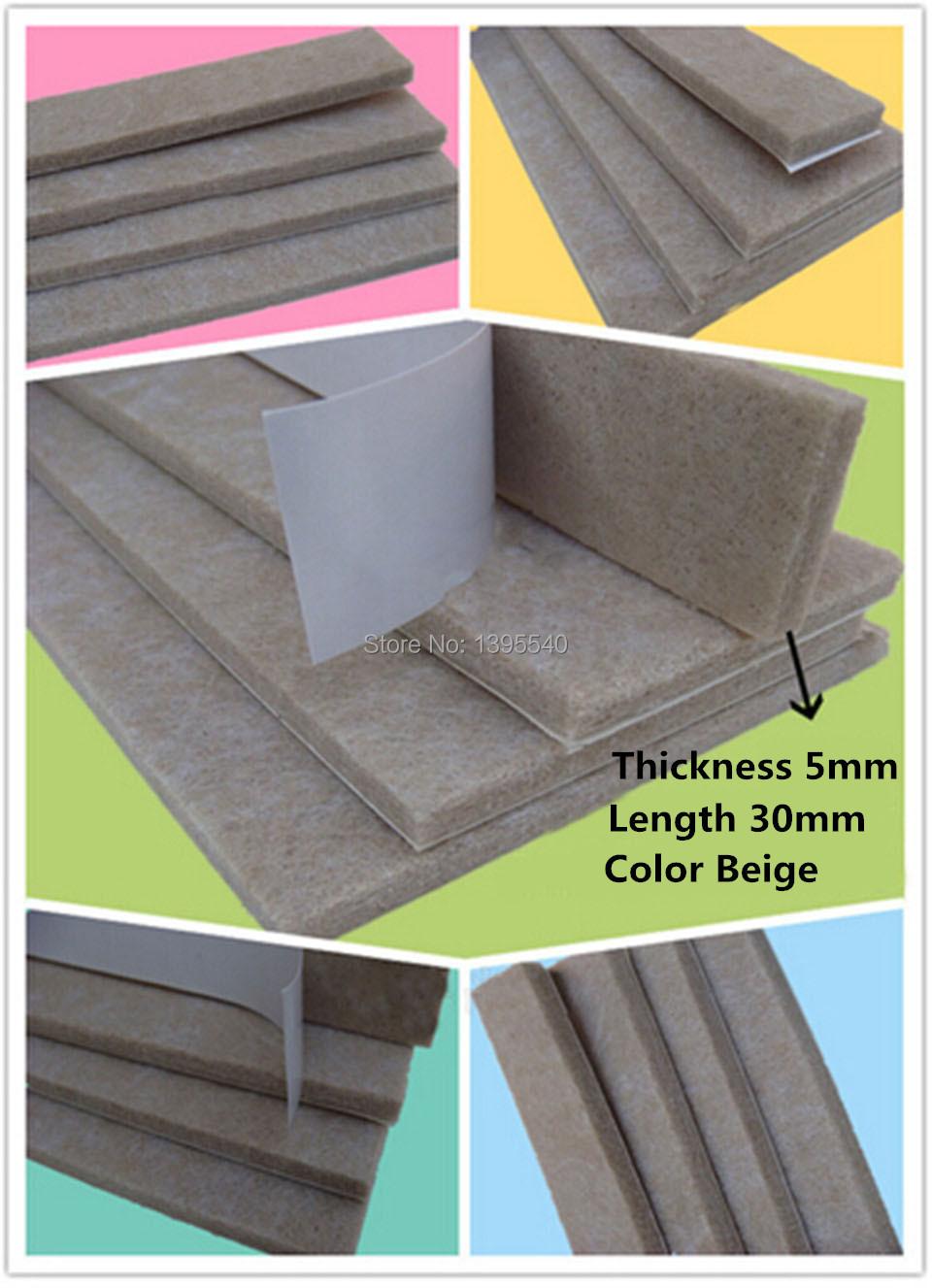 New 1pc 30X10mm Table Leg Pads Adhesive Furniture Leg Feet Non Slip Rug Felt Pads Protetcors Anti Slip Beige Mat Fittings<br><br>Aliexpress