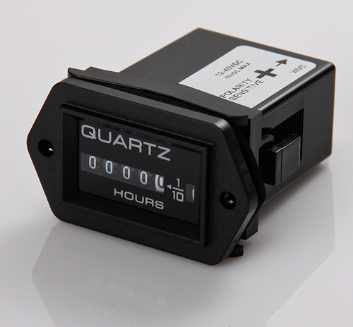 wholesale mechanical Hour Meter for Marine boats/trucks/tractor lawn mower Hour meter Gauge Timer counter DC 12 - 40V(China (Mainland))