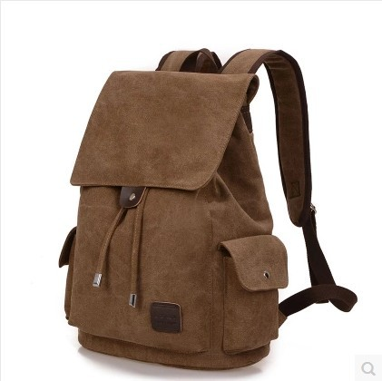 Retro Style Mens Canvas Casual Backpack & Laptop Bag