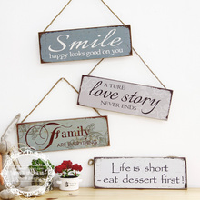 Free shipping,35*12cm,American European retro wooden cafe clothing shops listed decorative living room door ornament pendant