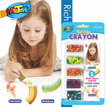 Artoys Multi-color Crayons Set Rich Color High Quality 100% safe non-toxic Children's DIY Educational Drawing Toy Christmas Gift(China (Mainland))