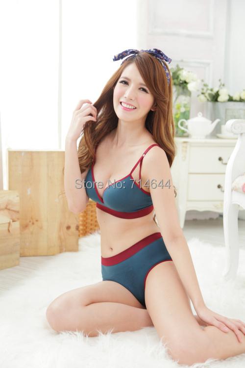 Seamless2015 underwear small push thick furu thin home comfortable sports sleepwear present bra & brief set