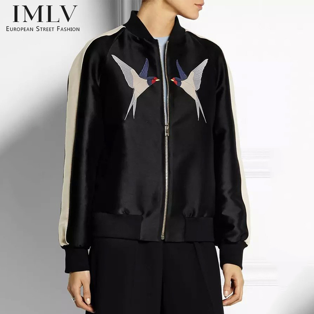 Imlv зимняя куртка женщин, Вышивка бейсбол куртка
