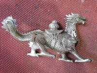 винтажные Карвен тибетский Серебряный динозавр скульптуры