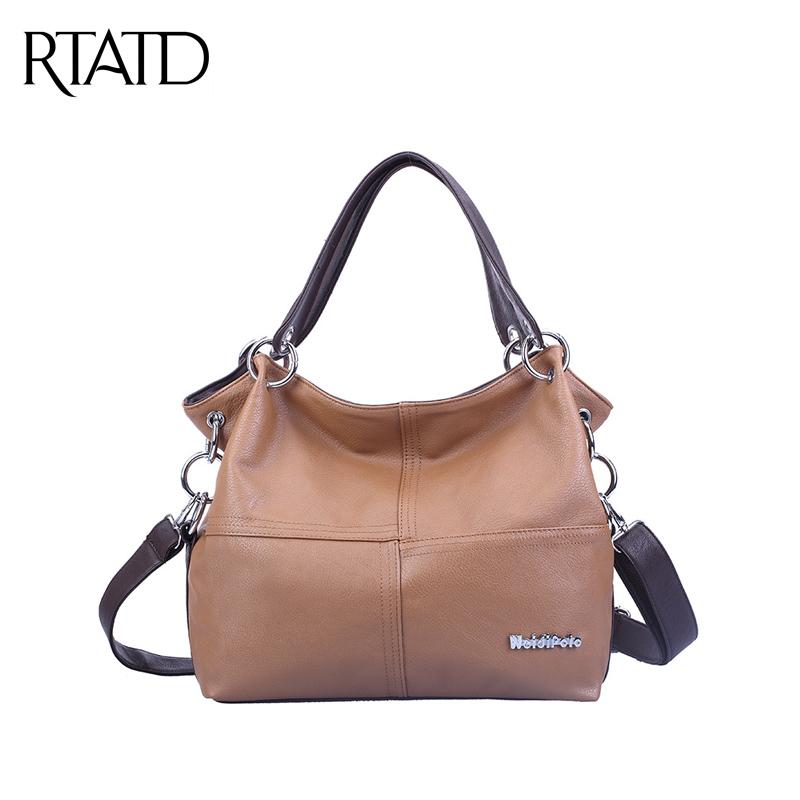 2016 New Fashion Korean Style Bucket Tote Bag Women PU Leather Handbags Vintage Ladies Classical Messenger Shoulder Bags QF045(China (Mainland))