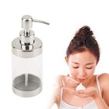Superior quality2016 Fashion Stainless Steel Press Soap Dispenser Liquid Hand Washing Shampoo PumpStylish(China (Mainland))