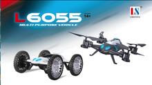 2016 Newest Lishitoys L6055 2in1 Land&Sky RC Quadcopter Flying Car 2.4G 4CH 6Axis Helicopter Drone Remote Control Toys