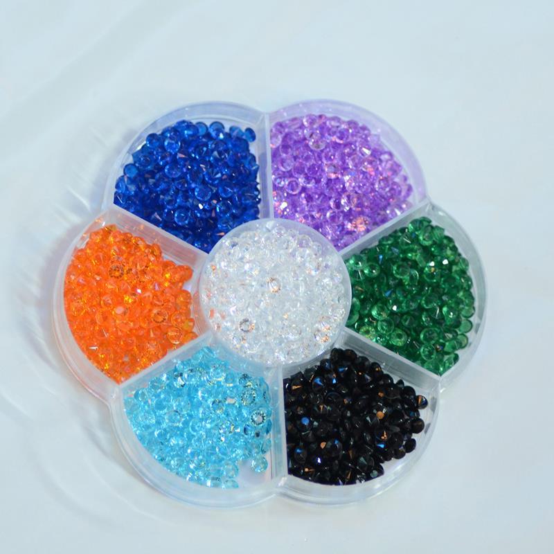 5000pcs/lot Mix color High Clarity Acrylic Crystal Diamond Confetti Wedding Party Decoration boxed 4mm(China (Mainland))