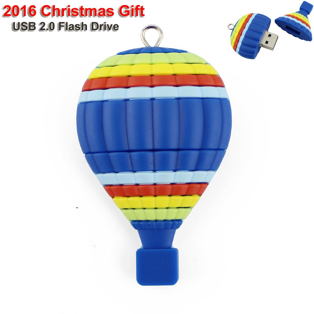 2016 Christmas gift USB 2.0 flash drive Air Ballon u disk 32g Pen drive 16g 64gb Pendrives 8gb Cartoon creative Memory stick(China (Mainland))
