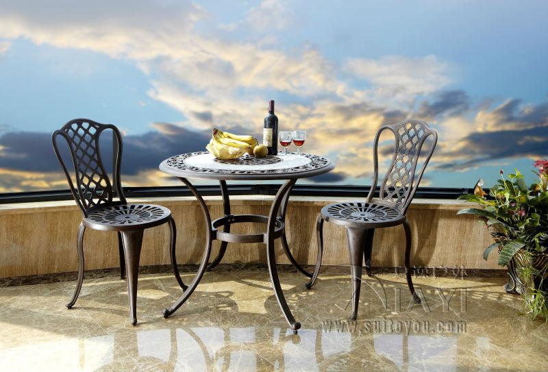 buy 3 piece cast aluminum patio furniture