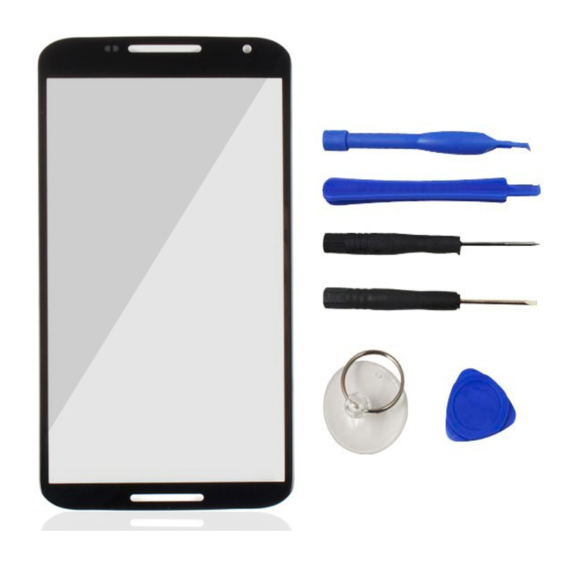 Front Touch Screen Glass Repair Part Outer Cover Screen DIgitizer Panel Lens For Motorola Google Nexus 6 XT1100 XT1103 With Logo(China (Mainland))
