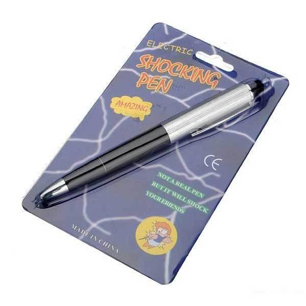 BuyOneer Electric Shock Pen Gag Prank Trick Joke Funny Toy Gift(China (Mainland))