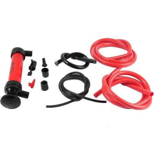 Portable Car Tire Water Oil Fuel Change Transfer Gas Liquid Pipe Siphon Tool Air Pump Kit Free Shipping