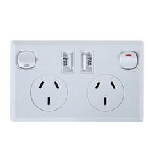 2 USB DC 5V 2.1A Home Wall Charger Adapter Socket Dual USB Port Outlets Plate Panel AU Plug L3EF