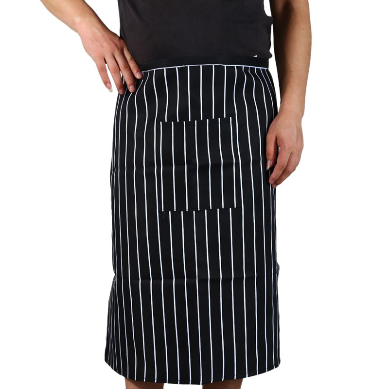 Fashion New Arrival Stripe half Apron With Chef Waiter Kitchen Cook Men Women Cooking Aprons with 1 Pocket(China (Mainland))