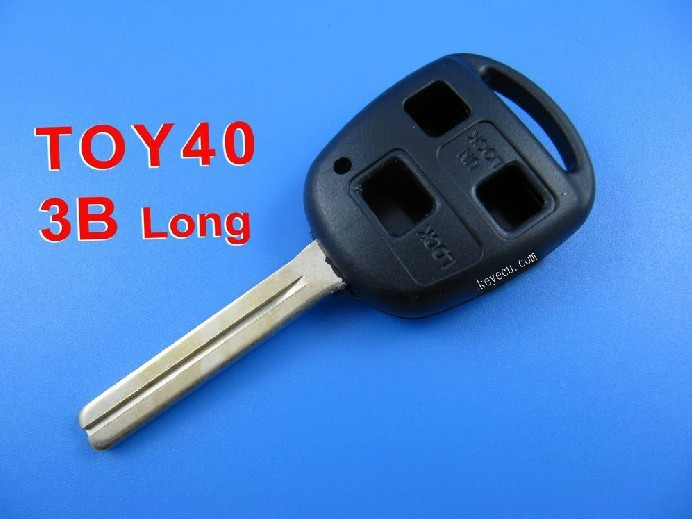 BRAND NEW Replacement Shell Remote Key Case Fob for TOYOTA With Uncut TOY40 BLADE 3 Button  Length 45mm