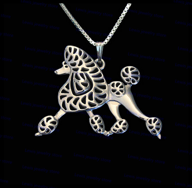 wholesale cartoon poodle necklace New Fashion poodle dog jewelry Silver/gold colors plated 12pcs/lot(China (Mainland))