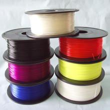 free shipping ! 3D Printer Filaments plastic Rubber Consumables Material, ROHS certified ,1.75/3mm ABS / PLA Optional