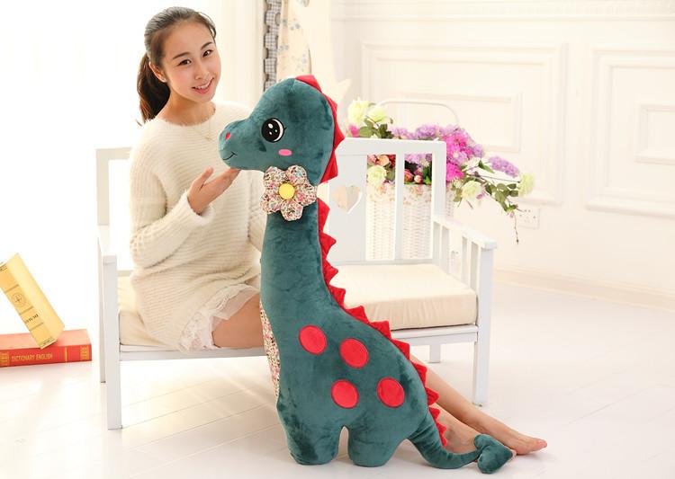big size lovely dinosaur toy new dark green plush dinosaur pillow doll gift about 100cm<br><br>Aliexpress