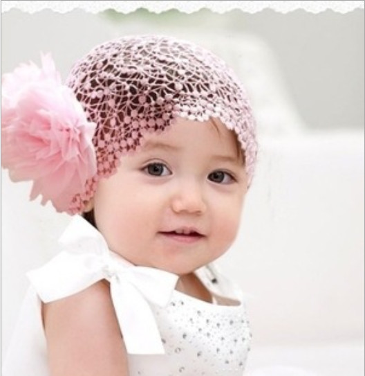 Baby Headbands Floral Wide Lace Red Pink Headbands With Double Flowers For Infant Toddler Girls Baby Hair Bands Headwear