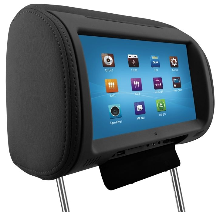 9'' Digital TFT LED Full Touch Screen Screen Pillow Headrest Car DVD Player(China (Mainland))
