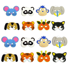 New Funny 10PCS Assorted EVA Foam Animal Masks for Kids Birthday Party Favors Dress Up Costume Zoo Jungle Party Supplies(China (Mainland))