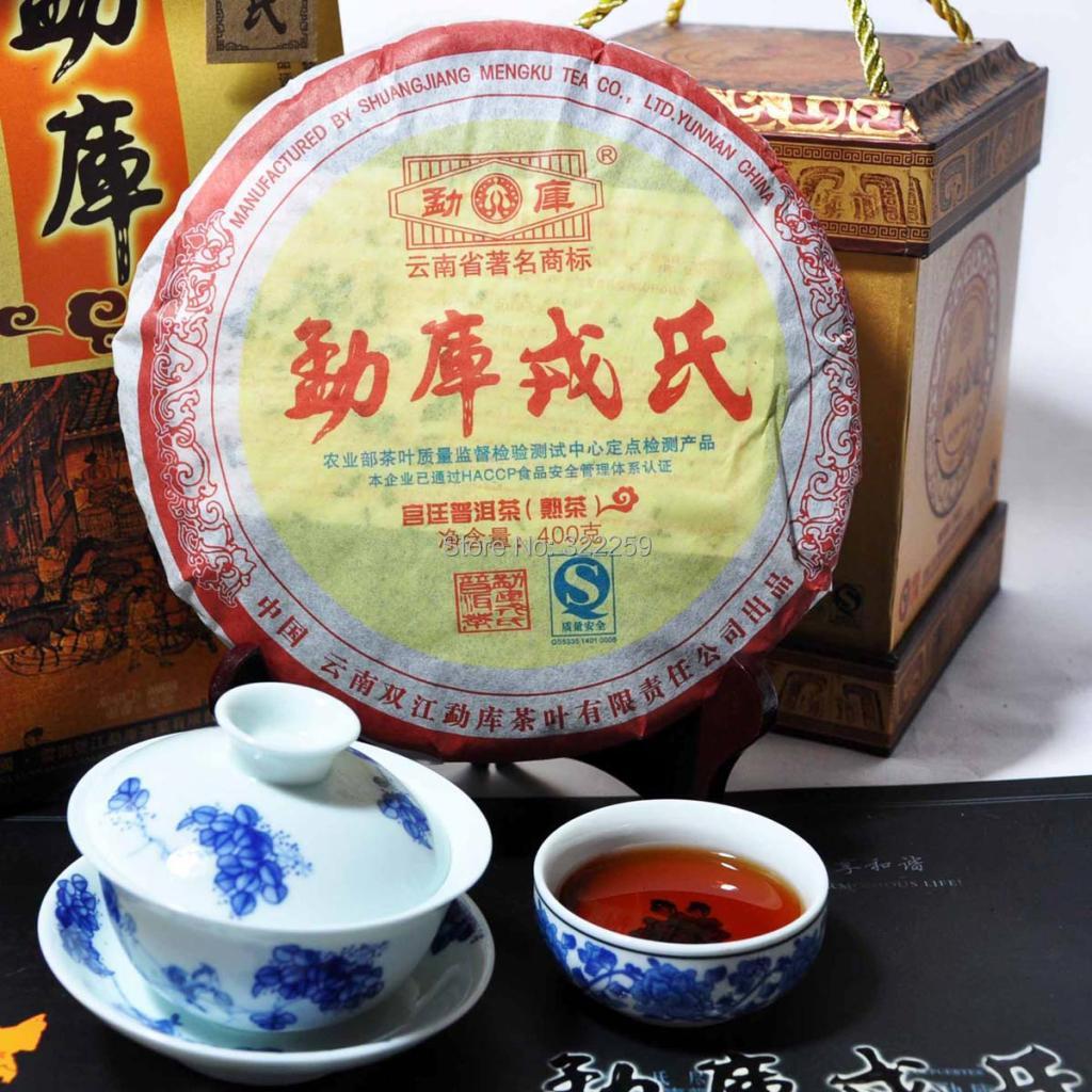 Гаджет  [DIDA TEA] 2007 yr Chinese Yunnan Mengku Rong Shi Royal Cake Puerh Puer Pu Erh Tea 400g Ripe Shu QIZI TEA BISCUIT CURED CAKE None Еда