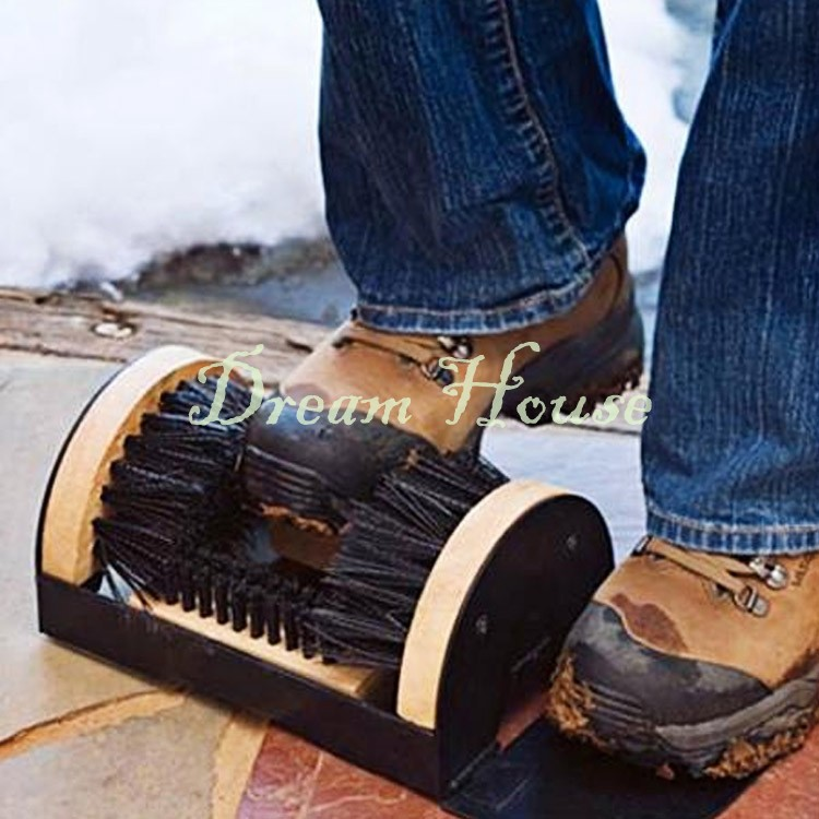 US Shipping Boots Shoes Sneakers Floor Mounted Mud Dirt Brush Cleaner House Doorway Scrub 25(China (Mainland))