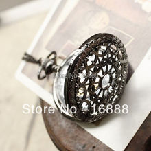 Hot Sale Bronze Web Pocket watch Vintage Pendant watch Necklace Chain Antique Nurse fob watches Clock