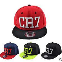Fashion Childrens snapback caps Cristiano Ronaldo CR7 Black Baseball Caps hip hop Sports Snapback Football hat boy girls(China (Mainland))