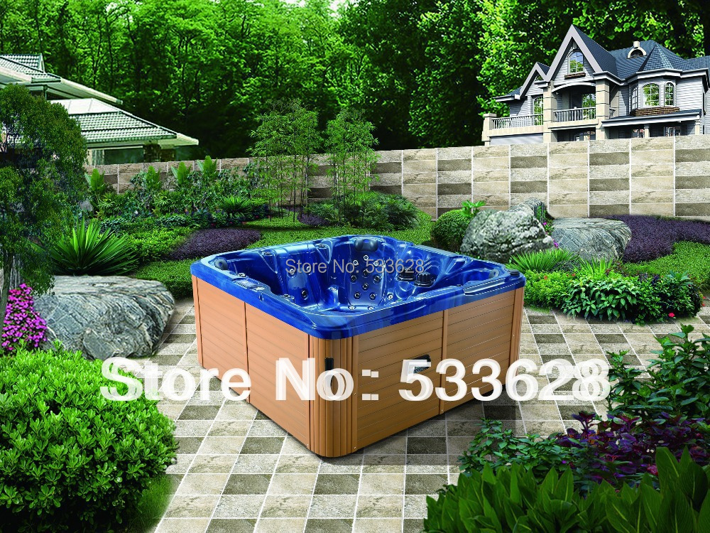 2806 Backyard whirlpool / portable hot tubs spas with 7 seats for party(China (Mainland))