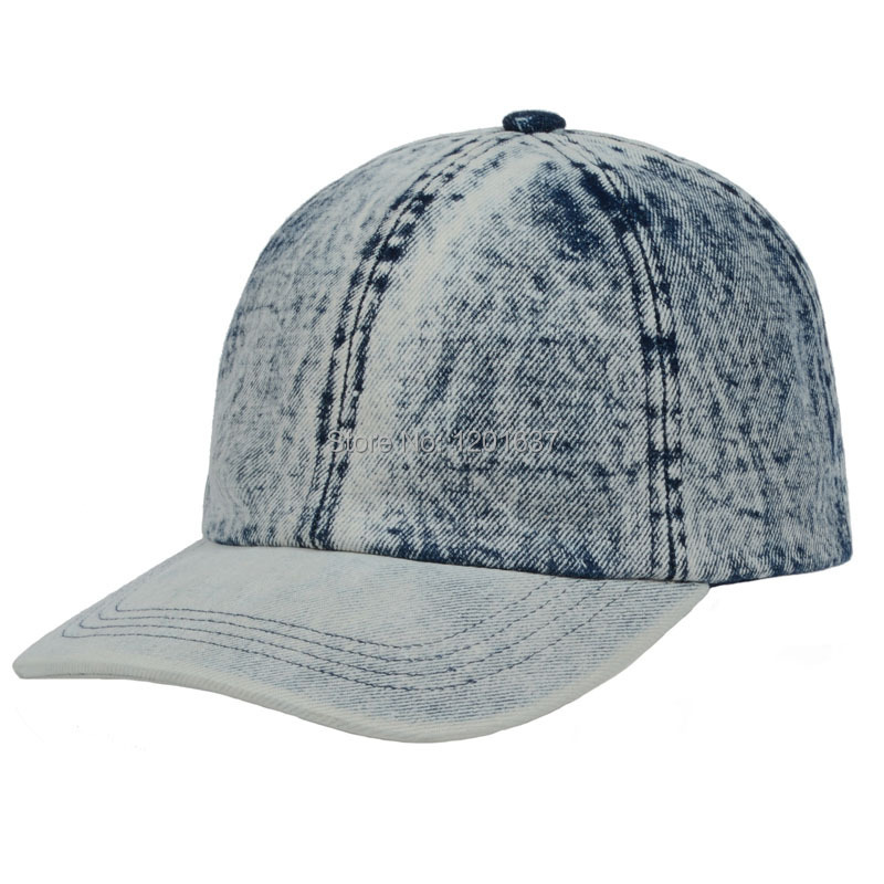 Hot Selling Classical Vintage Washed Denim Caps Solid Golf Ball Cap Adjustable Casual Sun Sport Hat Goldtop(China (Mainland))