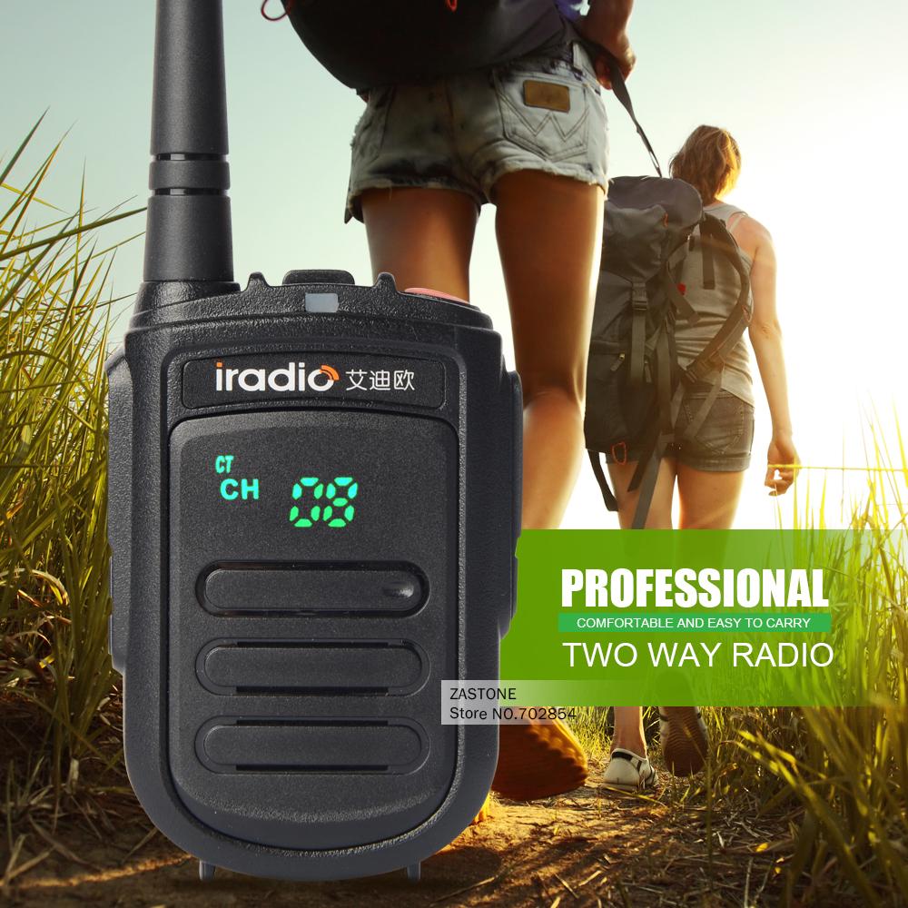IRADIO CP-168 mini Portable 400-480HMz UHF 128 channel Two-way Radio walkie talkie CB transceiver with LED display(China (Mainland))