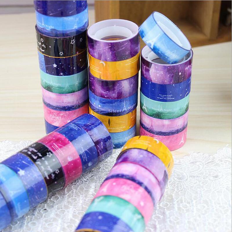 5pcs/lot Masking Tape Starry Sky Washi Pvc Roll DIY Decor Scrapbooking Sticker Office Supplies(China (Mainland))