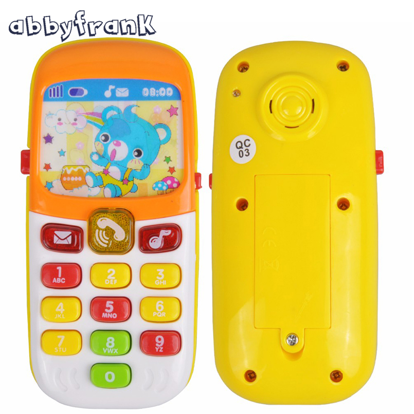 Mini Cute Electronic Toy Phone Children Phone Toy Musical Early Education Cartoon Mobile Phone Telephone Cellphone Baby Toys(China (Mainland))