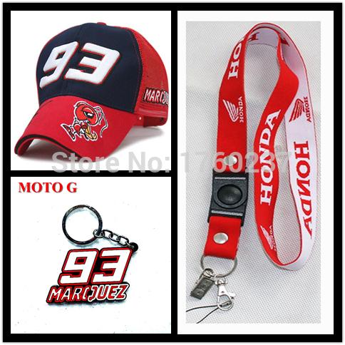 2015 The Official F1 MOTO GP Marc Marquez 93 cap baseball cap gorra Sport hat motocross racing cap & phone lanyard & keyring(China (Mainland))