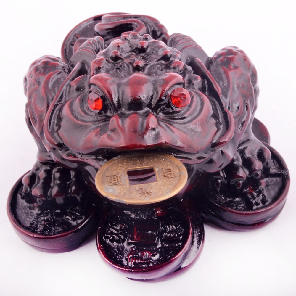 Feng shui Small Fengshui Three Legged Money Frog /Fortune Toad(China (Mainland))