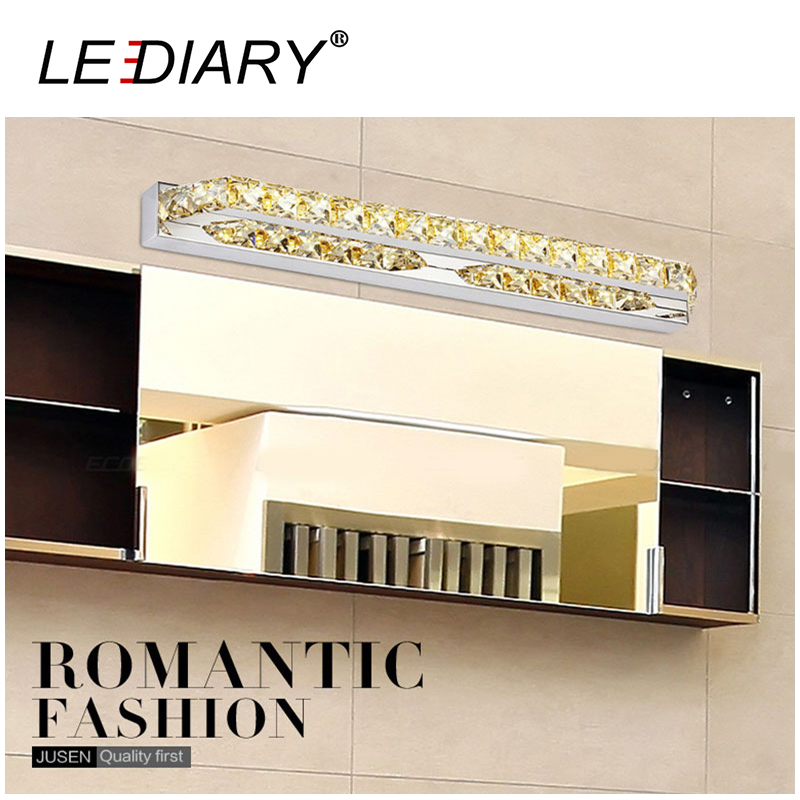 Modern Style 14W 56cm Long 70LEDs Crystal Wall Mirror Lamp LED Makeup Mirror Picture Display Wall Light Waterproof Bathroom Lamp(China (Mainland))