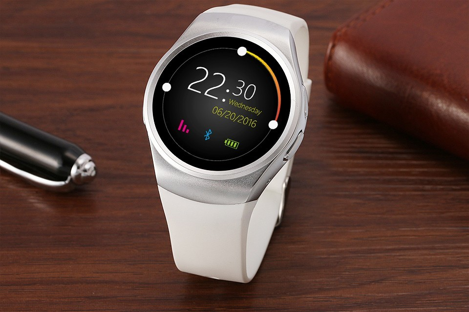 Full Round Smartwatch Heart rate monitor Wrist band russian indian arabic bluetooth Smart watch gw01 gear s2 KW18 U9 U8 360