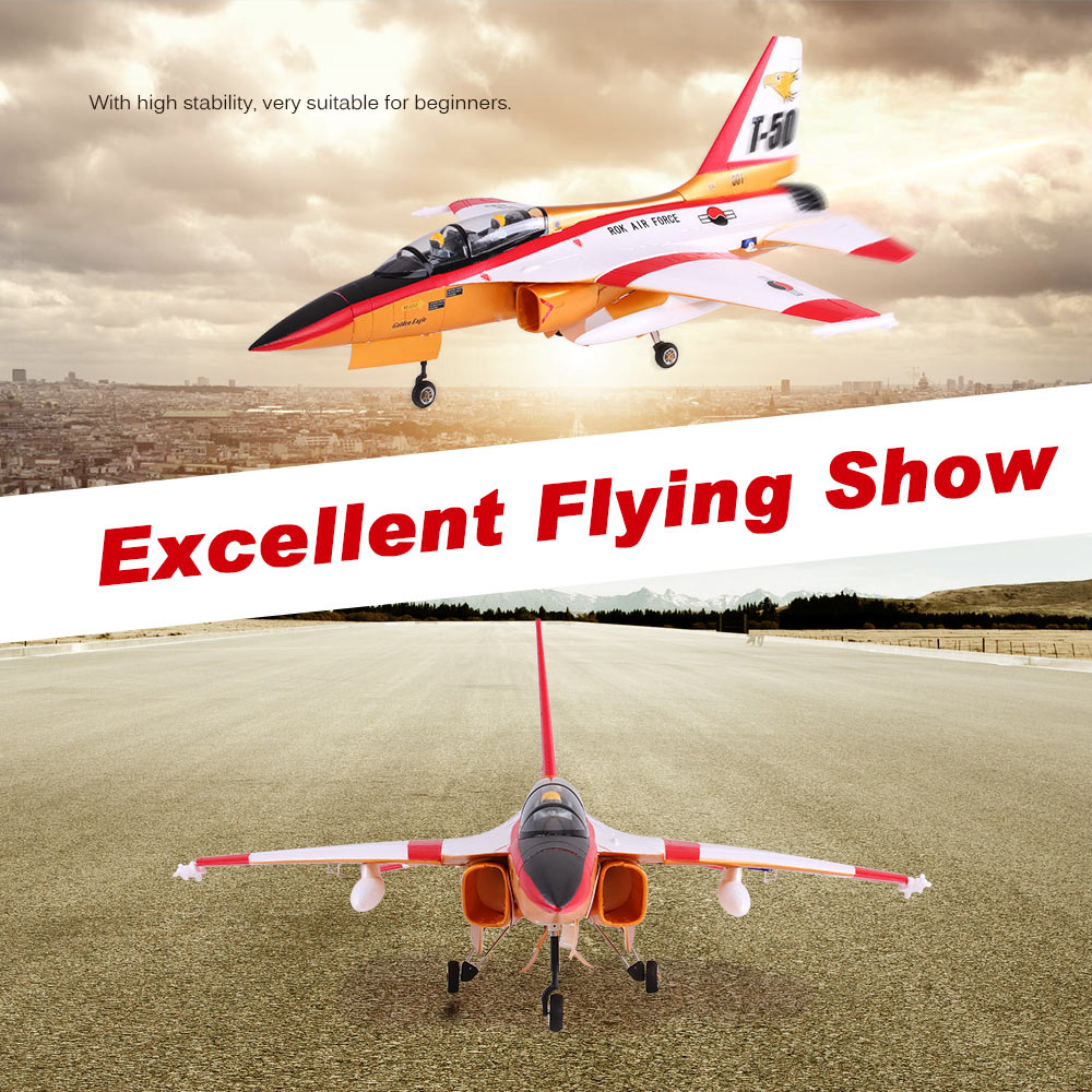 Original Unique T-50 Drone 820mm Wingspan 70mm EDF Jet Trainer EPO Aircraft RC Airplane PNP Version and Retractable Landing Gear(China (Mainland))
